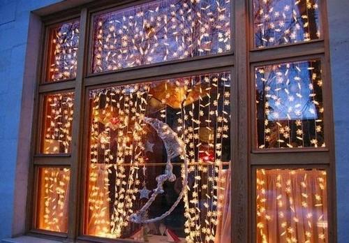 2019 год свиньи как украсить окна