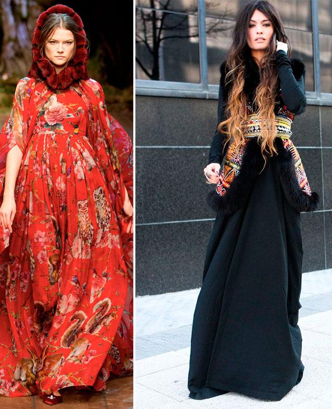 Девушки в платьях в русском стиле