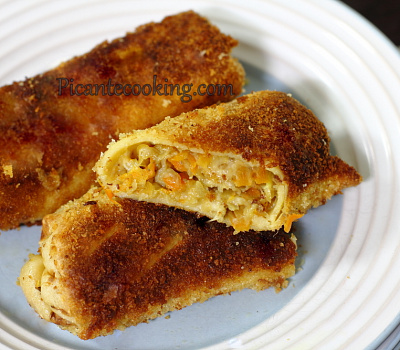 Блинчики с овощами и сыром (Krokiety warzywne z serem)