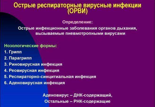 Респираторные вирусные инфекции