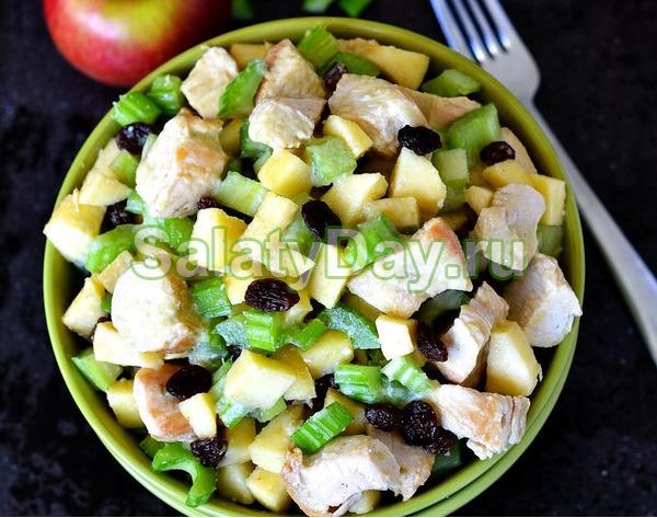 Вкуснейший салат с изюмом