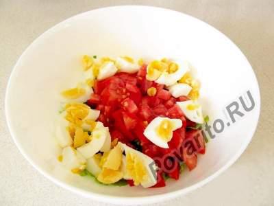 Салат с тунцом и помидорами пошаговый рецепт приготовления с фото