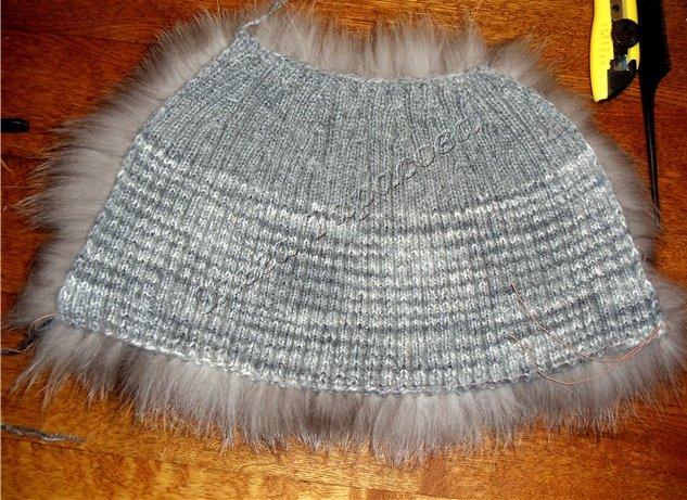 шапки из вязаной норки недорого
