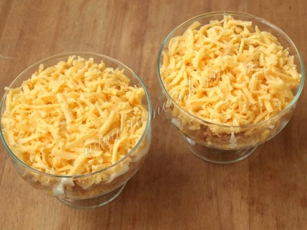 Сырный слой салата