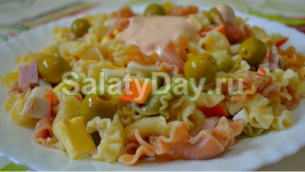 Салат с макаронами (Испанский рецепт)