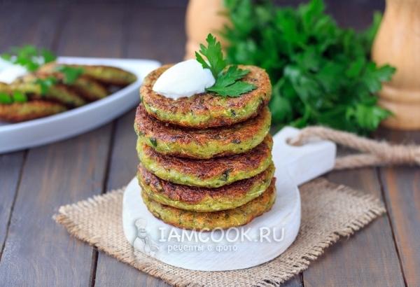 Рецепт оладий из кабачков без яиц