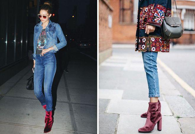 джинсы скинни с сапогами-носками