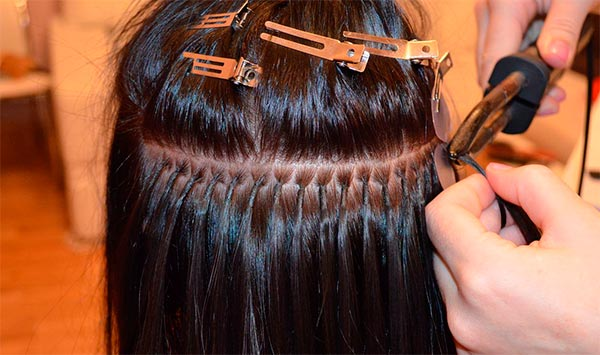 как наращивают волосы на капсулах горячим способом