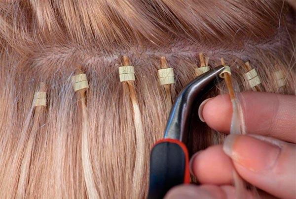 как наращивают волосы на капсулах холодным способом