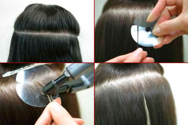 как делается капсульное наращивание волос
