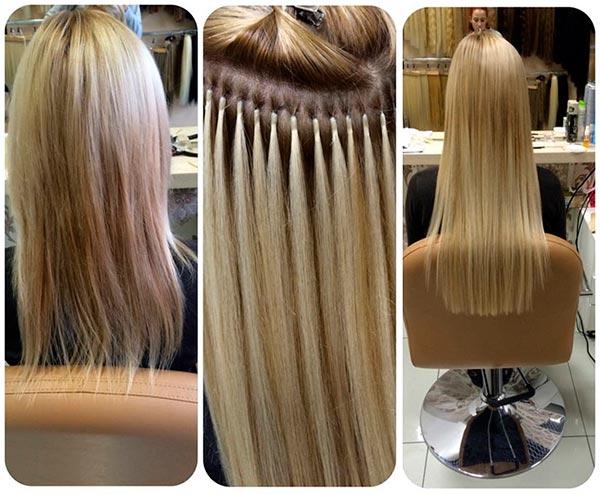 капсульное наращивание волос — фото до и после