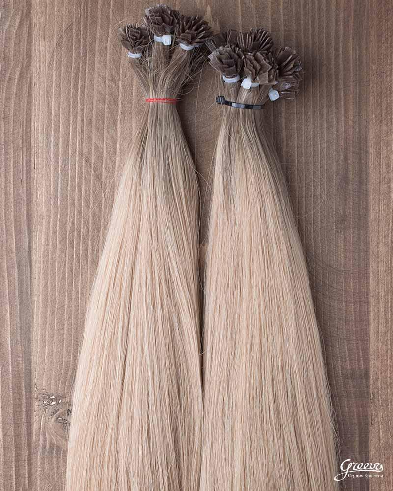 связка волос для капсульного наращивания.