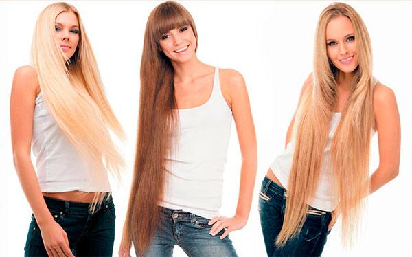 девушки с наращенными волосами