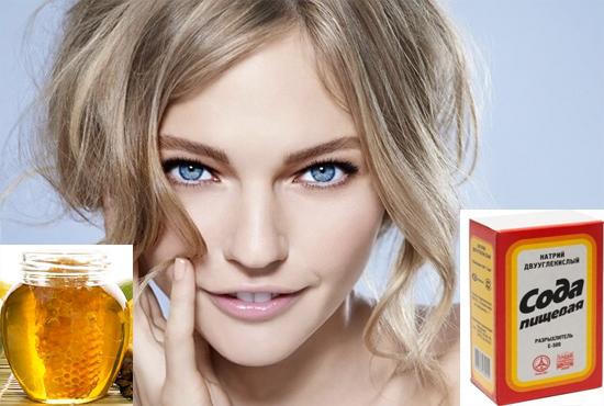 Мед с содой для осветления волос