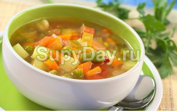 Боннский суп с зелёным горошком