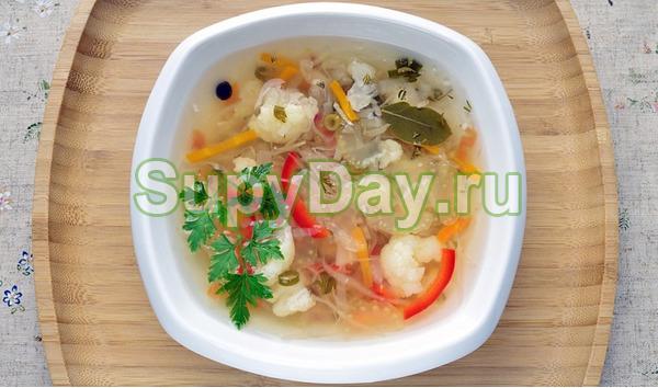 Боннский суп на мясном бульоне