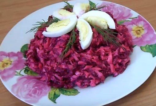 Салат из свеклы с яйцом