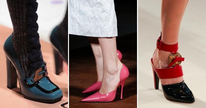 Лаковые туфли – изюминка модного образа