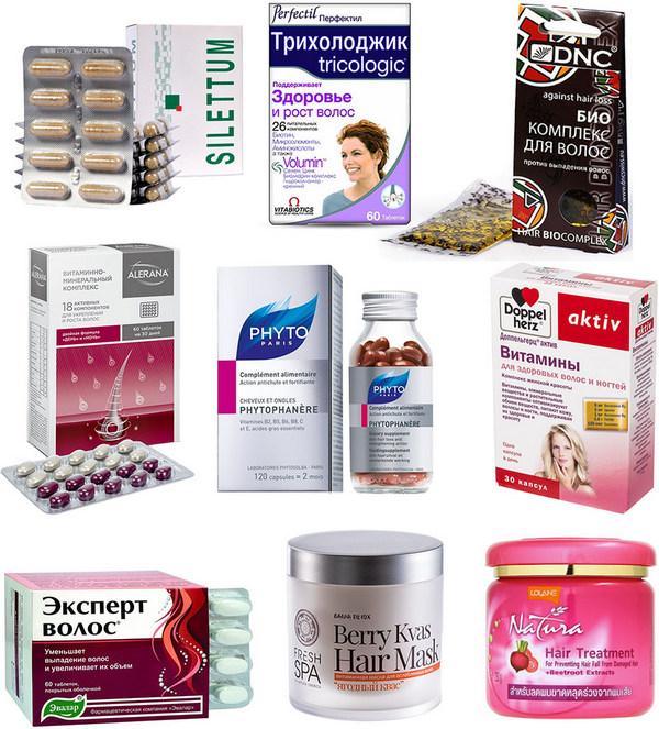 Витамины и витаминные маски используемые при выпадении волос
