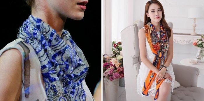 Модные способы завязывания шейного платка