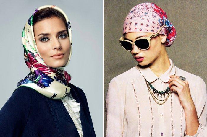 Шейный платок: повязываем на голову