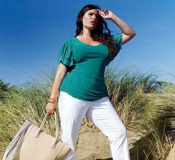 Блузки для полных женщин. Фасоны, нарядные модели из шифона, трикотажные, красивые с длинным рукавом, стильные офисные варианты