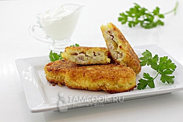 Фото картофельных зраз с мясом