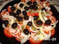 Приготовление салата с помидорами, капечами и сыром: шаг 9