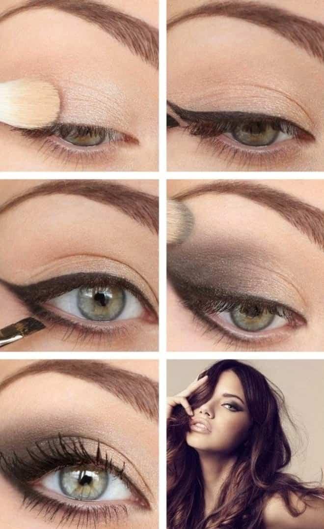 макияж для рыжеволосых с серо зелеными глазами