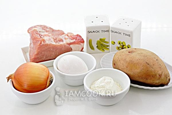 Ингредиенты для картофельных зраз с мясом