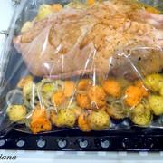 Утка праздничная, фаршированная пряным рисом: фото шаг 9