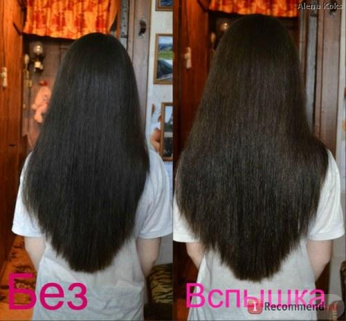 Волосы девушки до масок с маслом подсолнечника