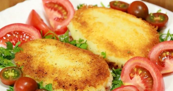 Картофельные зразы с мясом и сыром